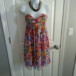 Betsey Johnson floral mini dress size 4